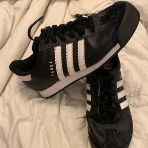 Retro Adidas Black Samoa Sneakers